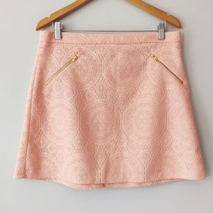 Tacera Pink Lace Short Skirt With Zippers